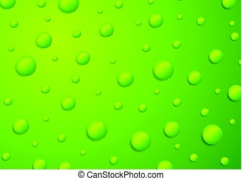 Abstract green 3d drops background