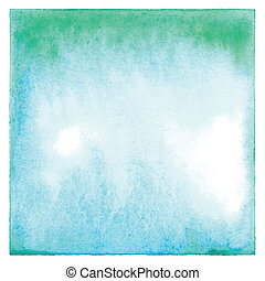 Abstract green and blue watercolor