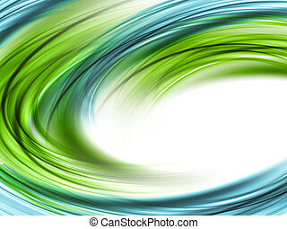 Abstract Green And Blue Waved Background