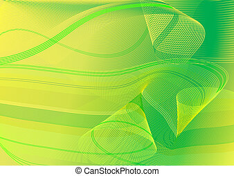 Abstract green and yellow card
