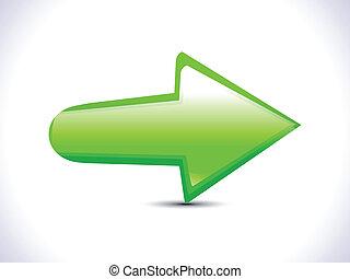 abstract green arrow icon