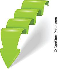 abstract green arrow vector illustration