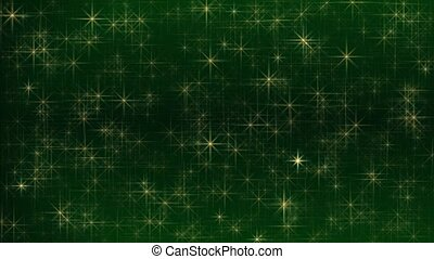 abstract green backgroud with magic flare and glittering star. 1920x1080