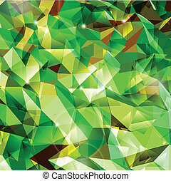 Abstract green background. Combination of triangle. Vector