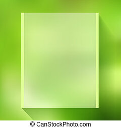 Abstract green background. Mesh based vector illustration.