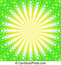 Abstract green background of glowing circles