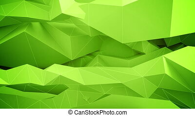 Abstract green background. Seamless loop.