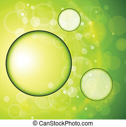 Abstract green background vector illustration.