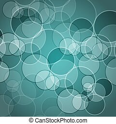 Abstract green background with circles
