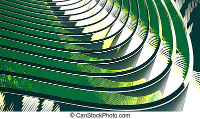 Abstract green background with flowing wavy