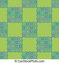 Abstract green background with geometric seamless pattern.