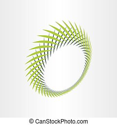 abstract green background with green leafs