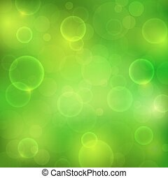 Abstract green background with magic lights