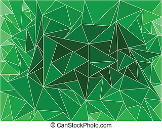 Abstract green background with polygons