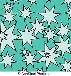 Abstract green background with seven star stars