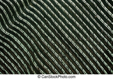 Abstract green background with shadow and lines