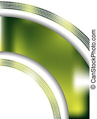 Abstract green background with tire track