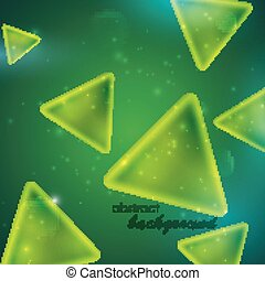 abstract green background with triangle shapes