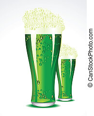 abstract green beer vector