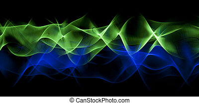 Abstract green-blue background