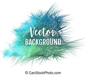 Abstract green blue vector backgound