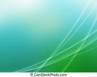 Abstract green blue wave background