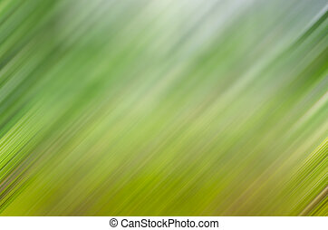 Abstract green blurred background with movement