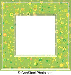abstract green border