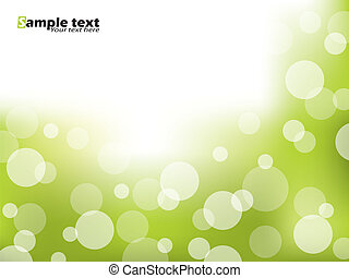 Abstract green brochure design with bubbles
