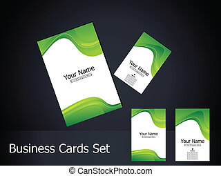 abstract green business card with
