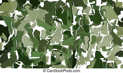 Abstract green camouflage - Moving camouflage background...
