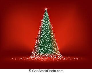 Abstract green christmas tree. EPS 8