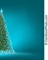 Abstract green christmas tree on blue. EPS 8 - Abstract ...