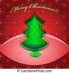 Abstract green christmas tree