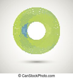 abstract green circle on a white background