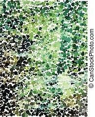 Abstract green circle pattern