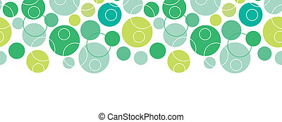 Abstract green circles seamless pattern background horizontal border