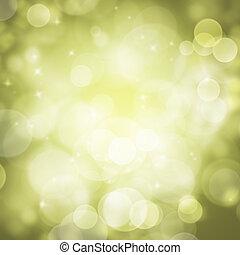 Abstract green circular bokeh background blur