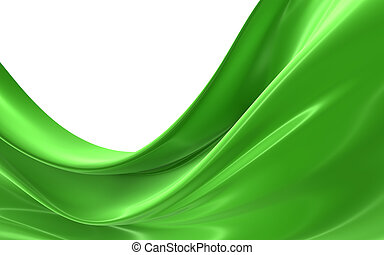 Abstract green cloth