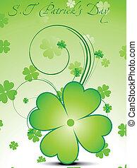 abstract green clover vector