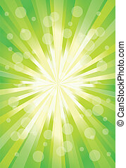 Abstract green color shape design. Vector