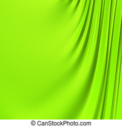 Abstract green creased background. Clean, detailed render. Backgrounds series.