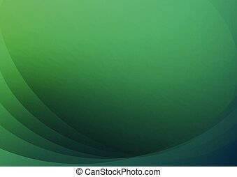 abstract green curve background vector