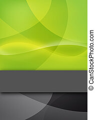 abstract green design with text bar