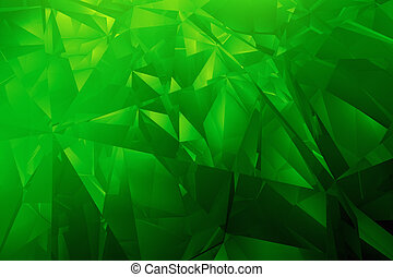 Abstract green diamond background