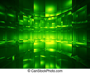 Abstract green digital space background