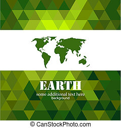 Abstract green Earth mosaic background