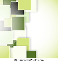 abstract green eco background with squares