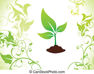 abstract green eco plant