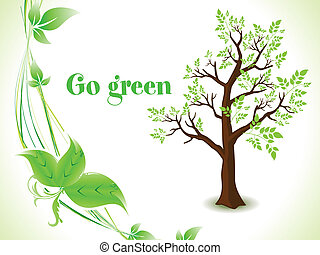 abstract green eco tree background